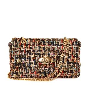 Tweed Multicolor Shoulder Bag NWT